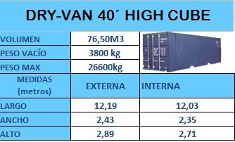 DRY-VAN 40 HIGH CUBE